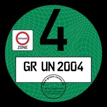 Niemiecka plakietka ekologiczna